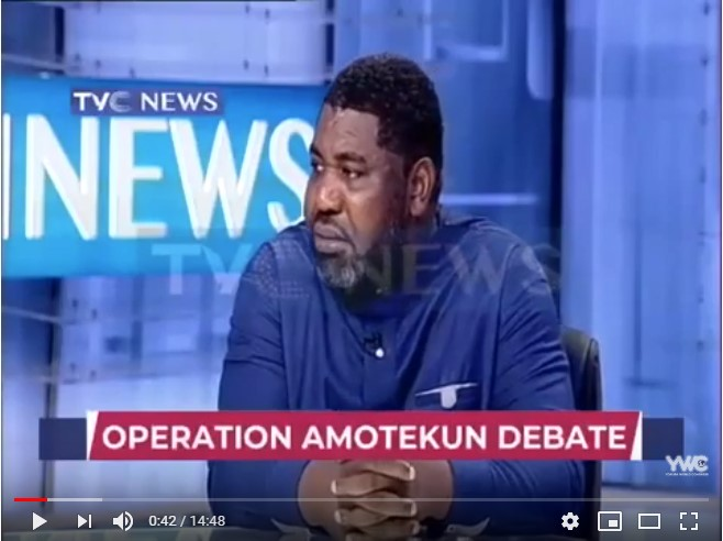 Amotekun Debate with YWC sec gen